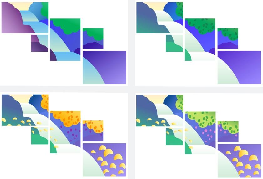 Proposte varianti colore realizzate al computer
